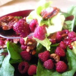 Mixed Green Salad With Raspberry Vinaigrette recipe