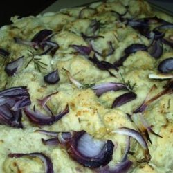 Red Onion, Garlic and Rosemary Focaccia
