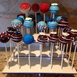 Red Velvet Cake Pops (4th of July)