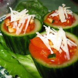Garden Salad Cucumber Cups