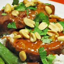 Pork Sirloin Roast With Thai Peanut Sauce (Slow Cooker)