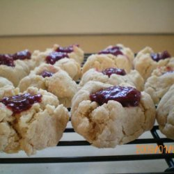 Lightened up Thumbprint Cookies