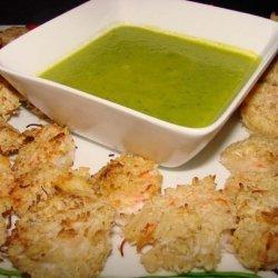 Coconut Lime Shrimp W/ Mango Jalapeno  Dipping Sauce
