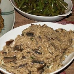 Shiitake and Baby Bella Mushroom Risotto
