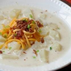 Slow Cooker Creamy Potato Soup