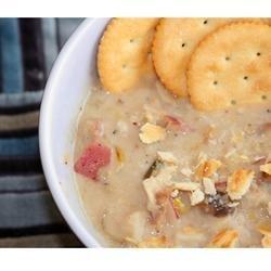Leek Potato Mushroom Cheddar Soup recipe