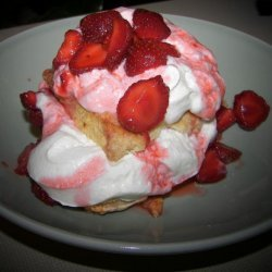 Old Fashioned Strawberry Shortcake with Grand Marnier Cream