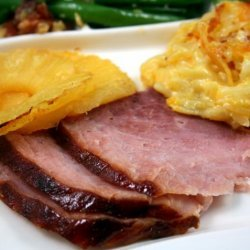Brown-Sugar-Glazed Ham With Pineapple