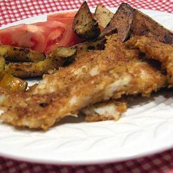 Crisp Roasted Fish Strips, Squash and Potatoes