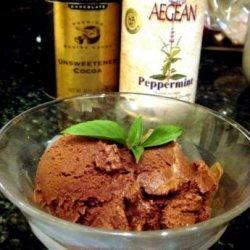 Dark Chocolate-Mint Sorbet