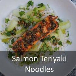 Teriyaki fish and noodles