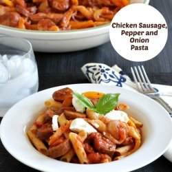 Chicken With Peppers and Pasta (Gluten Free)
