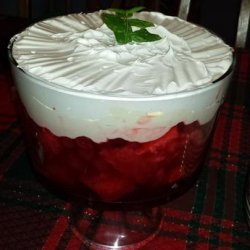 Christmas Cherry Trifle Dessert recipe