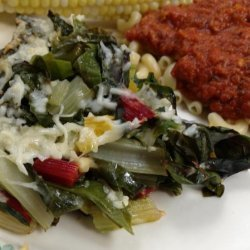Baked Swiss Chard With Olive Oil and Parmesan