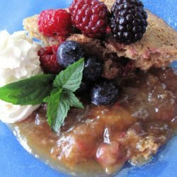 Maple Berry Pudding Cake recipe