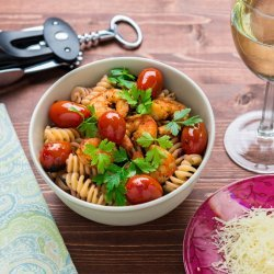 Roasted Tomato and Shrimp Pasta