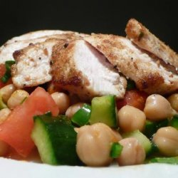 Chickpea Salad With Chicken Breast