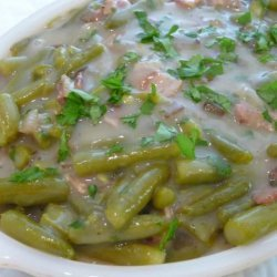 Oma's Country Green Beans With Bacon & Onion (Gruene Bohnen)