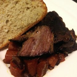 Crock Pot Beef With Red Wine Gravy