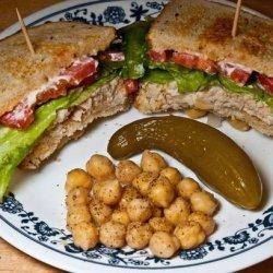 Tuna and Chickpea Sandwich on Rye