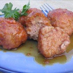 Ham Meatballs in Brown Sugar Sauce