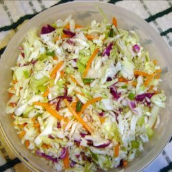 My Favorite Tangy Coleslaw