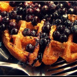 Blueberry Waffles and Blueberry Sauce