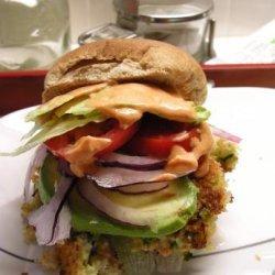 Sarasota's Shrimp Burgers, Avocado and a Chili Lime Mayo