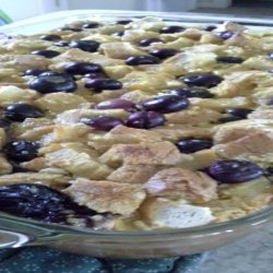 Blueberry Breakfast Bread Pudding