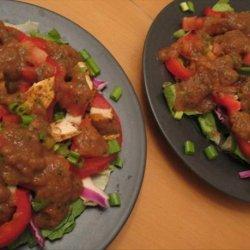 Ww 5 Points - Fajita Salad With Salsa Vinaigrette