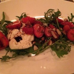 Balsamic Strawberries With Arugula