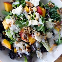 Goat Cheese, Greens, and Walnut Salad