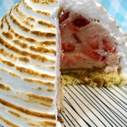 Baked Alaska With Strawberry Ice Cream