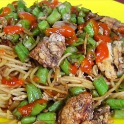 Oriental Angel Hair Pasta (stir-fry)