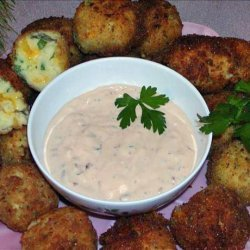 Potato Cheese Croquettes With a  Chipotle Sauce