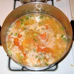 Hot and Sour Shrimp Soup