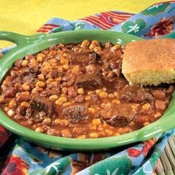 Mexican Beef and Bean Stew recipe