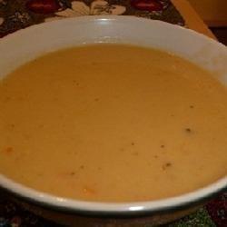 Cheesy Leek and Mustard Soup recipe