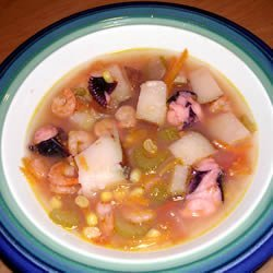 Shrimp and Octopus Soup (Caldo de Camaron y Pulpo) recipe