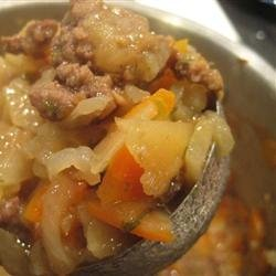 Abalos-Style Hamburger Soup (Picadillo Filipino)