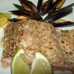 Broiled Salmon With Black Pepper and Lime Rub