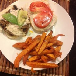 Cajun Portobello Sandwich With Avocado and Remoulade