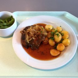 Pork Steak in Wine Sauce