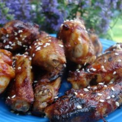 Chili-Glazed Chicken Wings With Toasted Sesame Seeds