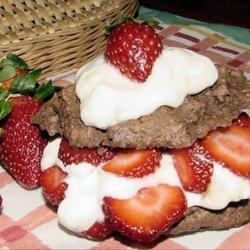 Cocoa-Berry Shortcakes recipe