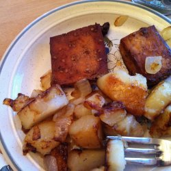 Fried Potatoes & Tofu