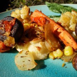 Roasted Vegetable Ragout With Polenta