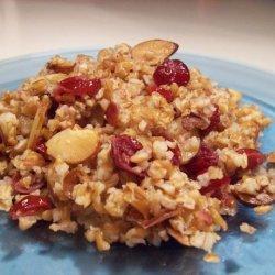 Bulgur Pilaf W/ Almonds and Cranberries