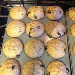 Blueberry banana nut muffins