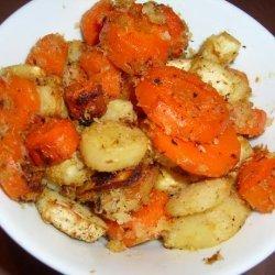 Horseradish-Roasted Carrots and Parsnips